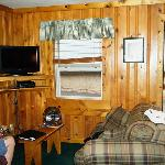  Living room area of cabin.