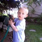More hose....the kid LOVES water