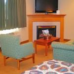 Two room, Fireplace, Whirlpool Suites are available.  Ask about our $10 upgrade available Sunday