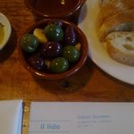 olives & bread to start...