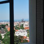 View of Clermont Ferrand from Room18 daytime