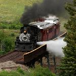 """blowing off steam"" at the new trestle"