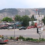 View of the W mountain from ABC Motel parking lot