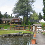  The view of the house from the private jetty