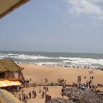 Balcony view of Calangute beach