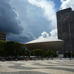 The Egg Auditorium from the Plaza in Albany, NY