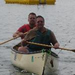  Having fun in the canoe