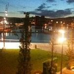 view over Lagan from the balcony
