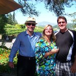 Intimate Wine Tour clients enjoying their tasting at Raymond Burr Winery.
