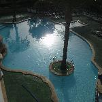 view from our room of pool in the morrning