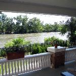 Watch the river go by from the porch