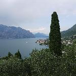 view of Lake Garda from our room