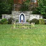  Blessed Mother in the garden behind St. Mary&#39;s Catholic Church in Gatlinburg