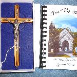 Cross & Cookbook from St. Mary's Catholic Church Gift Shop in Gatlinburg