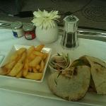 pita pockets filled with chicken kebabs 49AED