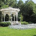 This is the Gazebo where my son was married.  Next to this are beautiful gardens and statues for
