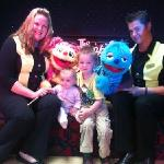 Liam and rebecca with scratch and Lucy not forgetting the puppet masters Danny and Sarah