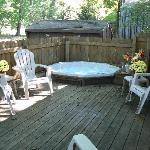  Back Deck with Jacuzzi and Gas Grill