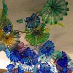Chihuly ceiling in garden cafe