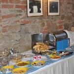  A portion of the breakfast buffet.