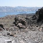 a view on Thira from NeaKameni volcanic island