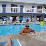  My husband in the pool having a great time!