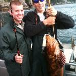 Cole and Quin - Big ling cod