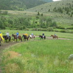 horseback riding on the Stermitz Ranch