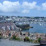 View of St Peter Port harbour & marina from Castle Cornet