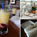 Special treats at Mourayio B&B: refreshing mulberry lemon orange drink & cold towels upon arriva