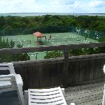  View of tennis courts from balcony