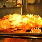 Roast leg of pork with crackling