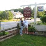 Kathy & I outside motel