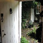  Front door of the Coach House leading into the courtyard