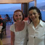  Manolina and myself in the restaurant