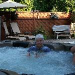  My mother and Aunt enjoying the hottub after a long day.