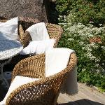 Chairs in the garden.