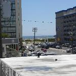 View from the SeaGull Apartments. YOu can see beach and boardwalk just steps away!