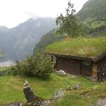 Cabin 16 (with grass on the roof!) looking toward Geiranger Fjord