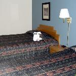 Beds in the double-queen room. With towel elephant!