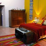 Our large Patzcuaro Suite bedroom - soak in the history of colonial Mexico!