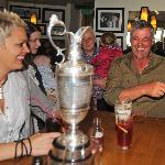 Darren Clarke and sister Andrea relax at Bayview Hotel after his fabulous victory, Claret Jug on