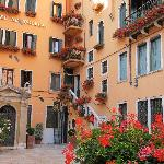 Courtyard at Hotel Al Codega, Venice, Italy