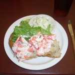 Sarah's Lobster Roll is large and tasty.