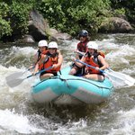 The girls' raft rockin' the rapids!