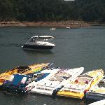 Some of the boats in the poker run