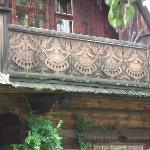 Carved balcony in Zakopane