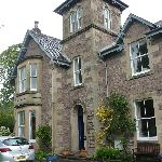 house- our room at top where bay window is