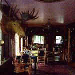 the dining room at the lodge