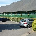 The main motel building and parking